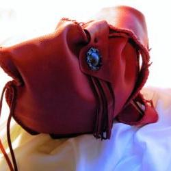 Leather Slouchy Hobo Bag, Handmade, Red, and Super Soft